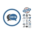 2016 Chat Flat Icon With Bonus vector image vector image