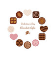 a round chocolate frame vector image vector image