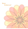 abstract floral card vector image