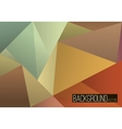 Abstract rumpled triangular background low poly vector image vector image