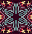 abstract swirl decoration with retro color vector image