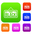 black friday signboard set collection vector image vector image