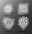 Briefcase Glass buttons vector image