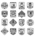 car spare parts garage service station icons vector image vector image
