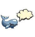 cartoon image of angry whale vector image vector image