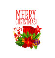 christmas winter holiday card with xmas gift vector image vector image