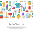 cleaning flat icons background vector image