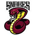 cobra snake mascot vector image vector image