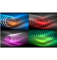collection of abstract backgrounds glowing vector image
