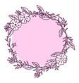 contour flower bloom flower decorative flower vector image vector image