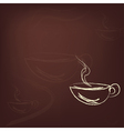 Cup of hot coffee vector image vector image