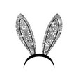 decoration bunny ears ornamental woman bunny ears vector image vector image