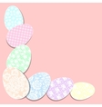 decoration with easter eggs vector image vector image