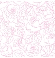 delicate line rose pattern vector image vector image