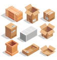 different big delivery packages warehouse or vector image vector image