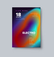 electronic music festival poster mockup vector image