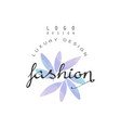 fashion luxury design logo badge for clothes vector image vector image
