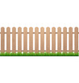 fence with grass wooden picket background vector image