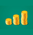 financial growth concept with stacks of vector image vector image