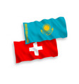 flags kazakhstan and switzerland on a white vector image