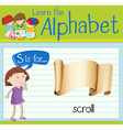 Flashcard letter S is for scroll vector image vector image