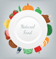 food and drink fruits and vegetables healthy vector image