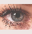 form of a human eye vector image