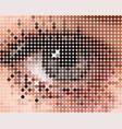 form of a human eye vector image vector image