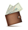 full wallet brown color full wallet vector image vector image