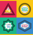 geometrical line shapes sale emblems icons set vector image vector image