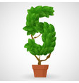 Green foliage houseplant alphabet Figures vector image vector image