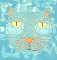 Hand drawn graphic of a cat Unique art for vector image