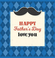 happy father day typography vector image