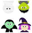 happy halloween vampire count dracula mummy vector image vector image