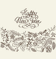 happy new year congratulation sketch vector image
