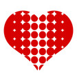 heart with dots icon simple style vector image vector image
