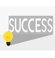Idea make to success Idea concept vector image vector image