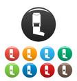inhaler icons set color vector image