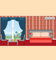 interior of resort hotel room with furniture vector image vector image