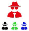 mafia boss icon vector image
