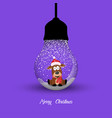merry christmas creative design with hanging vector image vector image