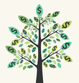 Money tree success concept vector image