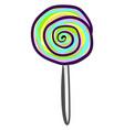 multicolor lollipop on white background vector image