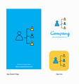 networking company logo app icon and splash page vector image vector image