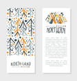north land card template design wild north vector image