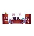office interior school principal or guidance vector image