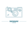 Old camera - branding identity element isolated on vector image