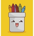 pencil holders funny character isolated icon vector image vector image