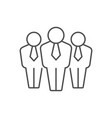 people group or team line icon vector image vector image