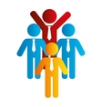people silhouette teamwork icon vector image vector image